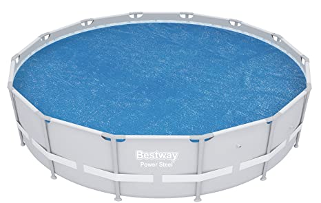 6bbc221ec04 Bestway 14  Round Floating Above Ground Swimming Pool Solar Heat Cover