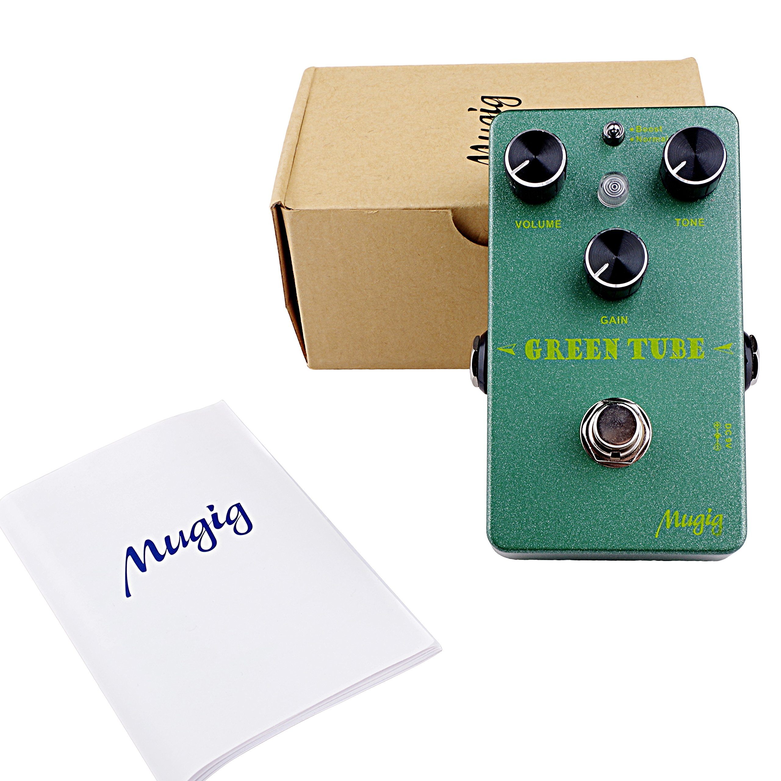 Mugig Guitar Effects Pedal, Overdrive Effect Pedal Two Modes, Boost /Normal with True Bypass