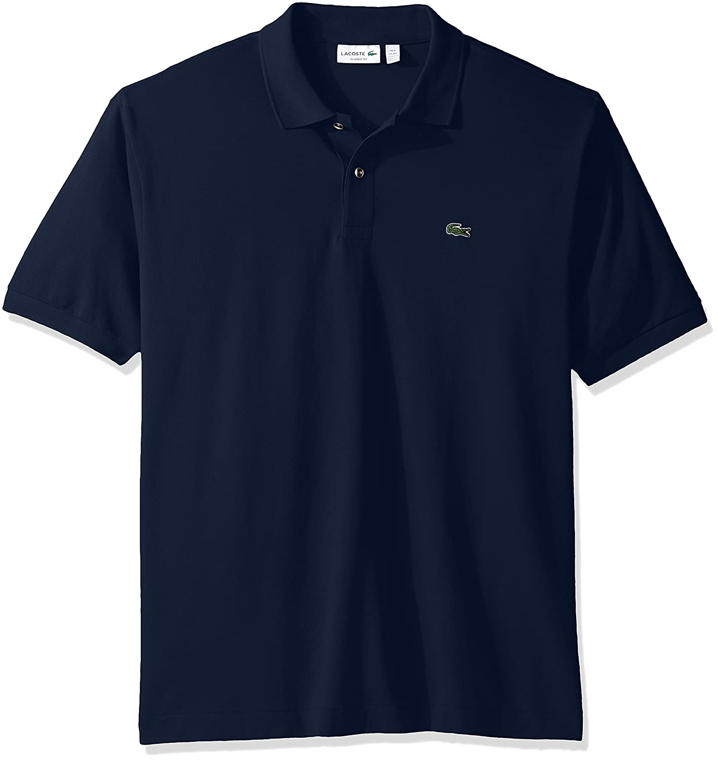 Lacoste Mens Classic Short Sleeve Discontinued L.12.12 Pique Polo Shirt