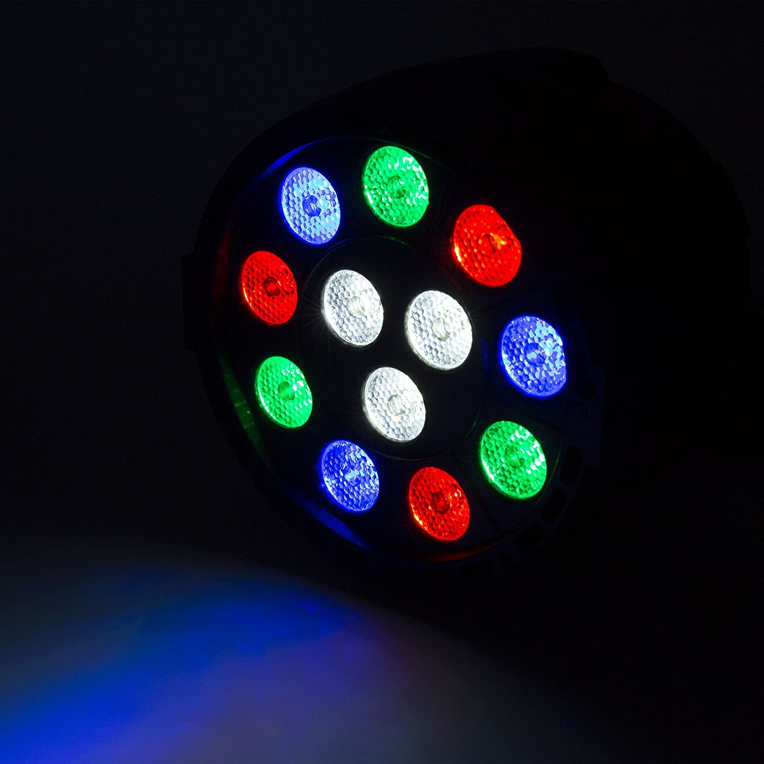 Lightess Par Lights 12LED Stage Light RGB Effect Lighting Sound Activated Stand Lamp with DMX512