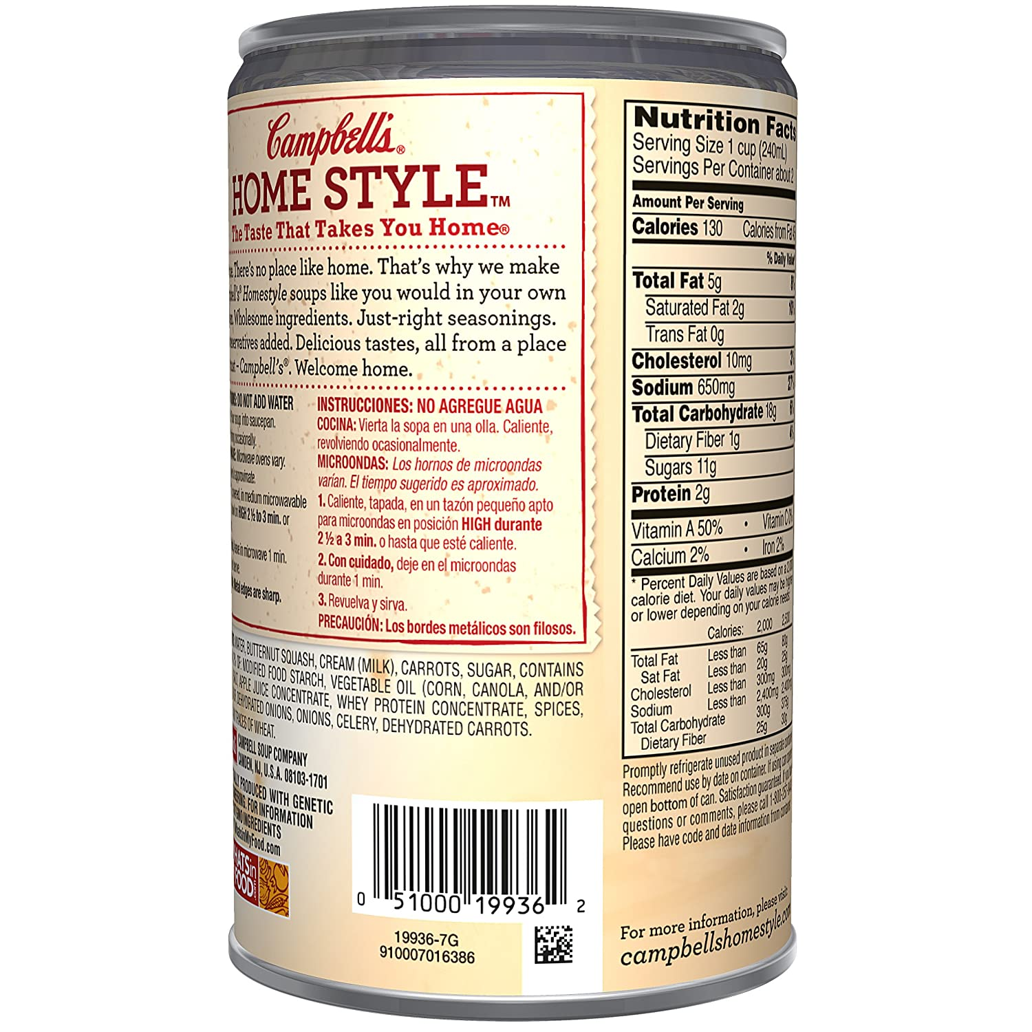 Amazon.com : Campbells Homestyle Soup, Butternut Squash Bisque, 18.8 Ounce : Grocery & Gourmet Food