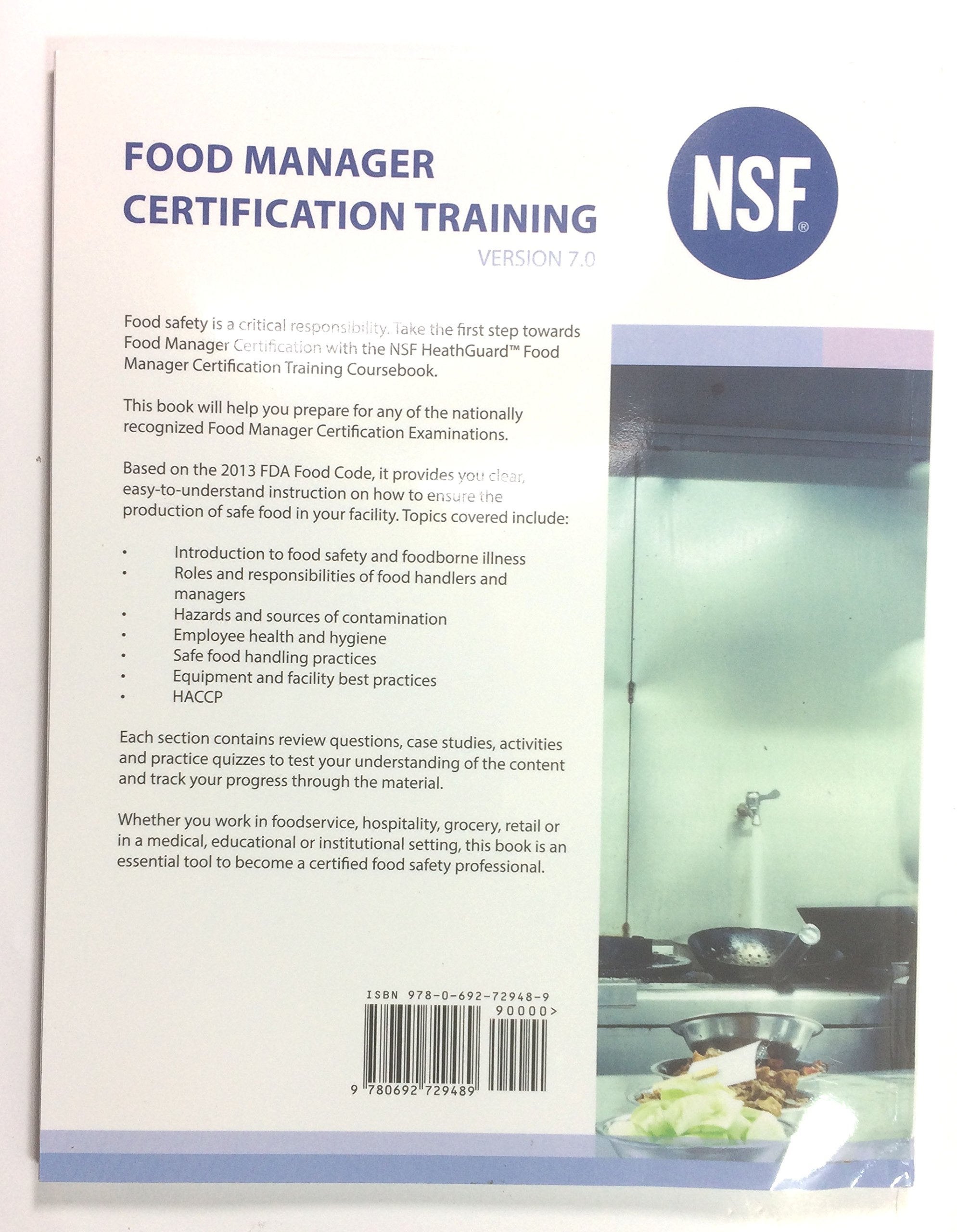 Nsf healthguard food manager certification training version 70 nsf healthguard food manager certification training version 70 nsf international 0000081819959 amazon books 1betcityfo Images