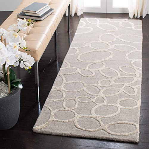 Safavieh Soho Collection Handmade Grey Premium Wool Runner 2 6 x 12