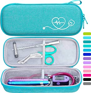 ButterFox Semi Hard Stethoscope Case for Classic III, Cardiology IV Diagnostic, Lightweight II S.E, and More Stethoscopes with Pocket for Nurse Accessories (Turquoise)