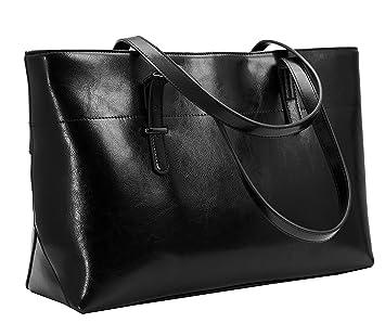 Iswee Women s Leather Handbags Top Handle Tote Shoulder Bag Ladies Designer Purses  Large Capcity Fashion Bag 81560528f5