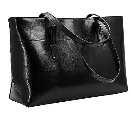 amazon com iswee leather shoulder handbags vintage work tote rh amazon com