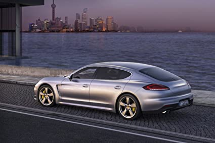 Porsche Panamera Turbo Executive (2013) Art Car Poster Print on 10 mil Archival Satin