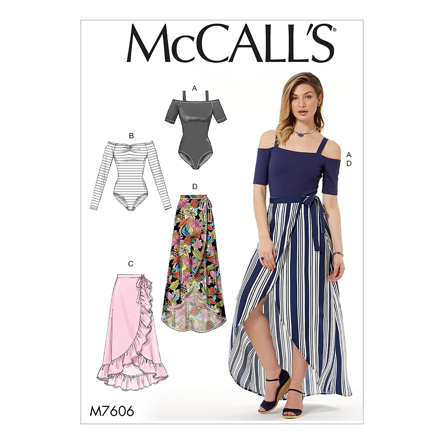 McCall' s Patterns 7606y taglie neonato e gonne,, XS/m The McCall Pattern Company M76060Y0