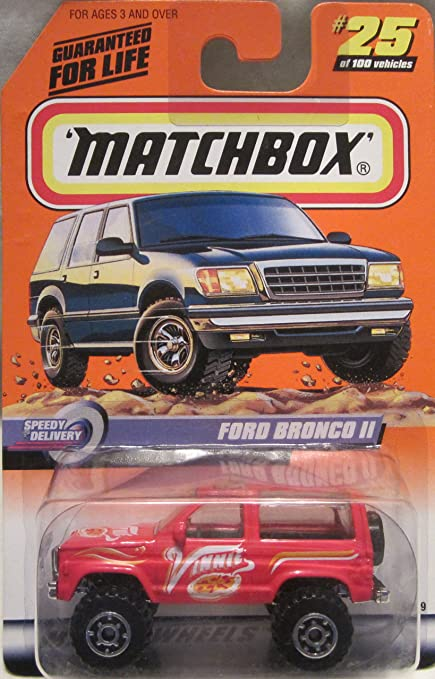 Ford Bronco 2 >> Amazon Com Matchbox Speedy Delivery Ford Bronco Ii 25 Of