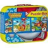 Schmidt Spiele 55594 - Benjamin Blümchen, Puzzle-Box 2 x 26, 2 x 48 Teile im Metallkoffer