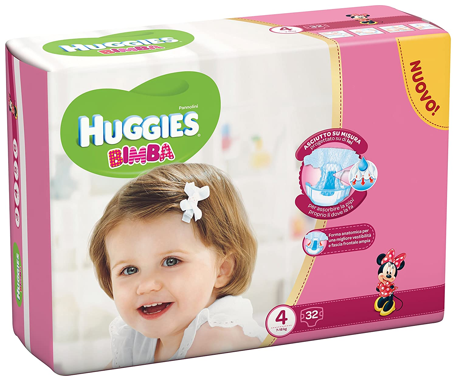 Huggies - Bimba - Nappies - Size 4 (7-18 kg) - 32 Nappies Kimberly Clark