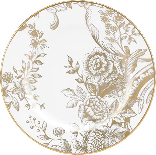 White Lenox Marchesa Gilded Forest Butter Plate