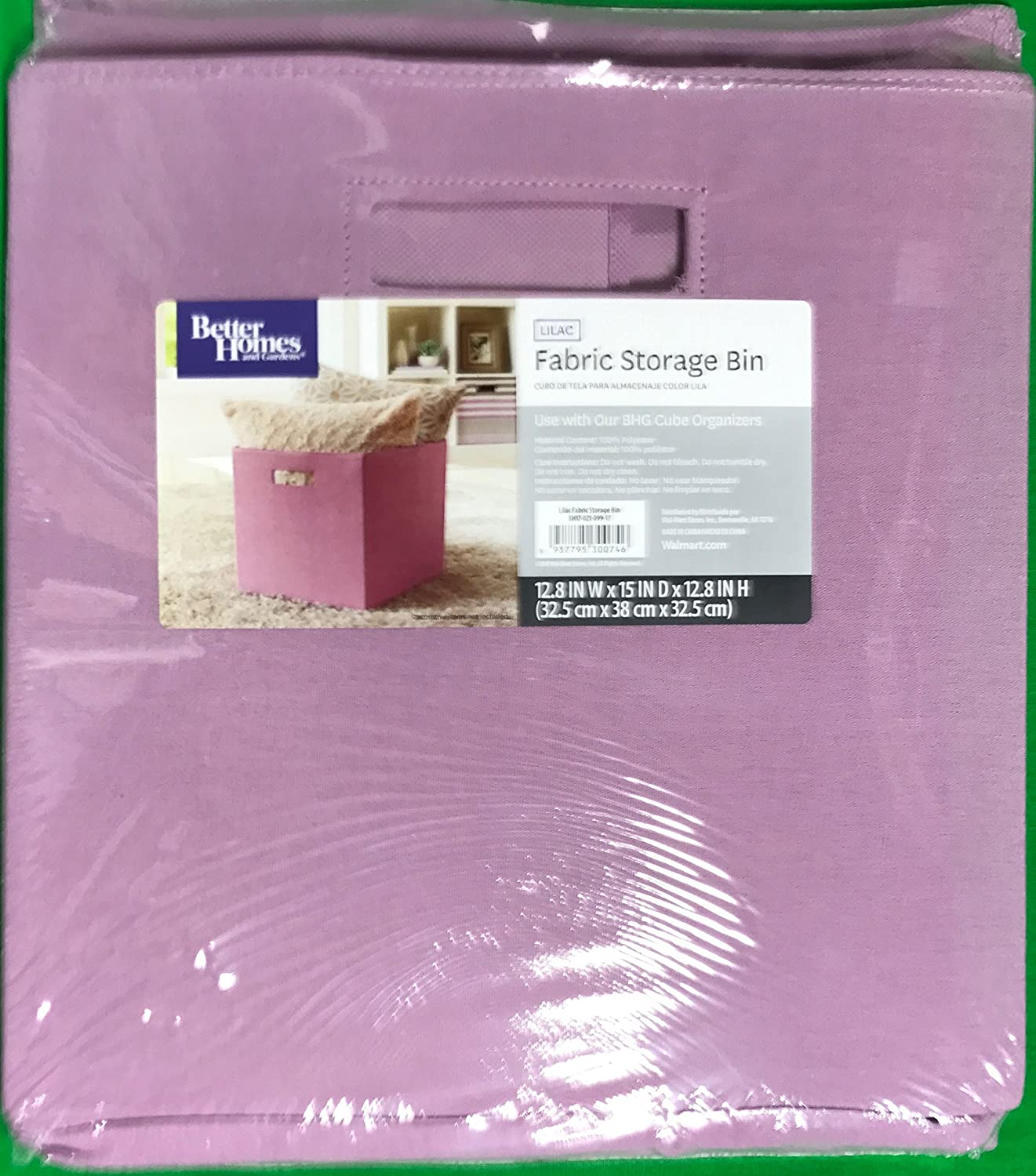 Better Homes And Gardens Collapsible Fabric Storage Cube   Lilac