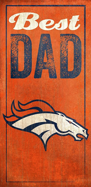 Fan Creations Denver Broncos Best Dad Sign, Multicolored