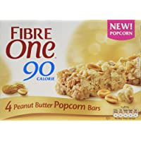 Fibre One 90 Calorie Peanut Butter Popcorn Bars 4x21g (Pack of 8)