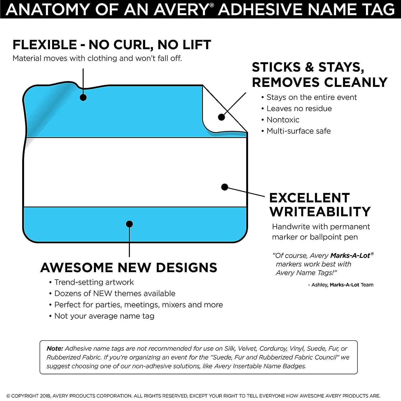 amazon com avery premium american flag name tags no lift no curl