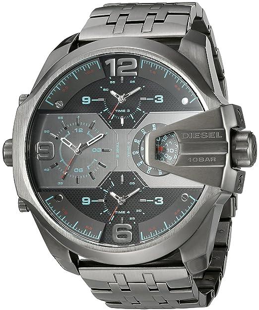 Diesel Reloj Analógico para Hombre de Cuarzo con Correa en Acero Inoxidable DZ7372: Amazon.es: Relojes