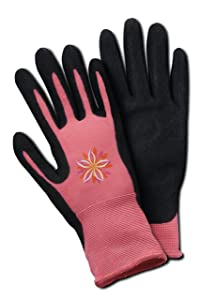 Magid BE338T Bella Women's Comfort Flex Coated Garden Glove, Medium/Large