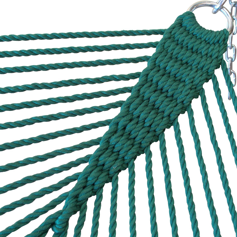 Caribbean Hammocks Jumbo Hammock and 15 ft Tribeam Stand - Green