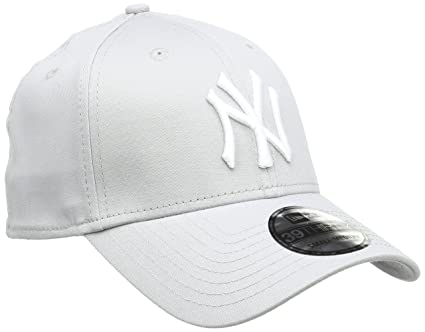 c4e1c1972cff3 Amazon.com   New Era 39Thirty Flexfit Cap - NY Yankees Grey White ...