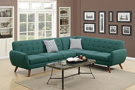 Amazon.com: Moderno Retro Seccional sofá: Kitchen & Dining