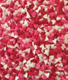 Mini Red, Pink, White Valentine Hearts Edible Sprinkles - 2.6 oz - National Cake Supply