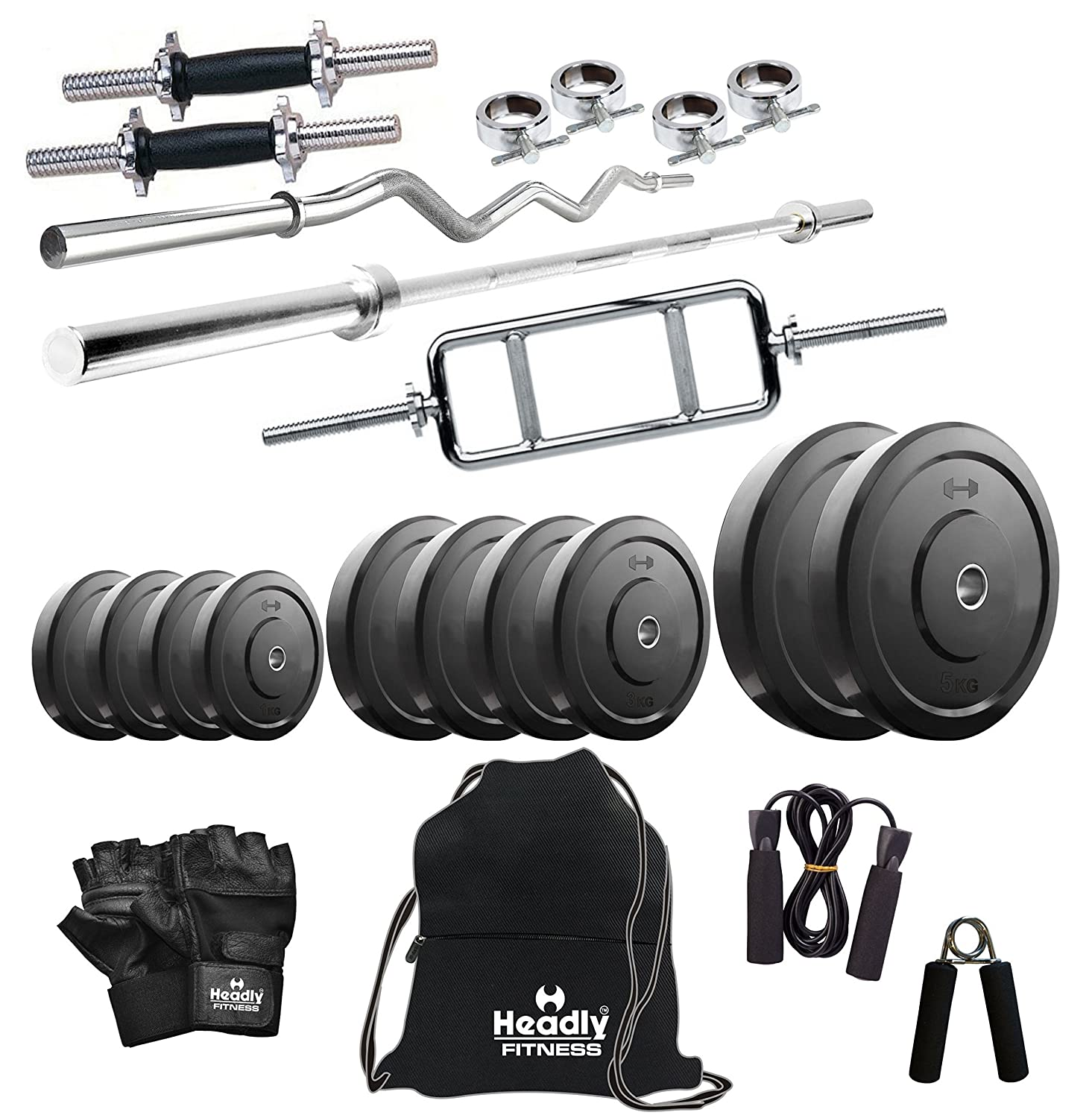 Headly 50 kg combo 1 home gym: amazon.in: sports fitness & outdoors