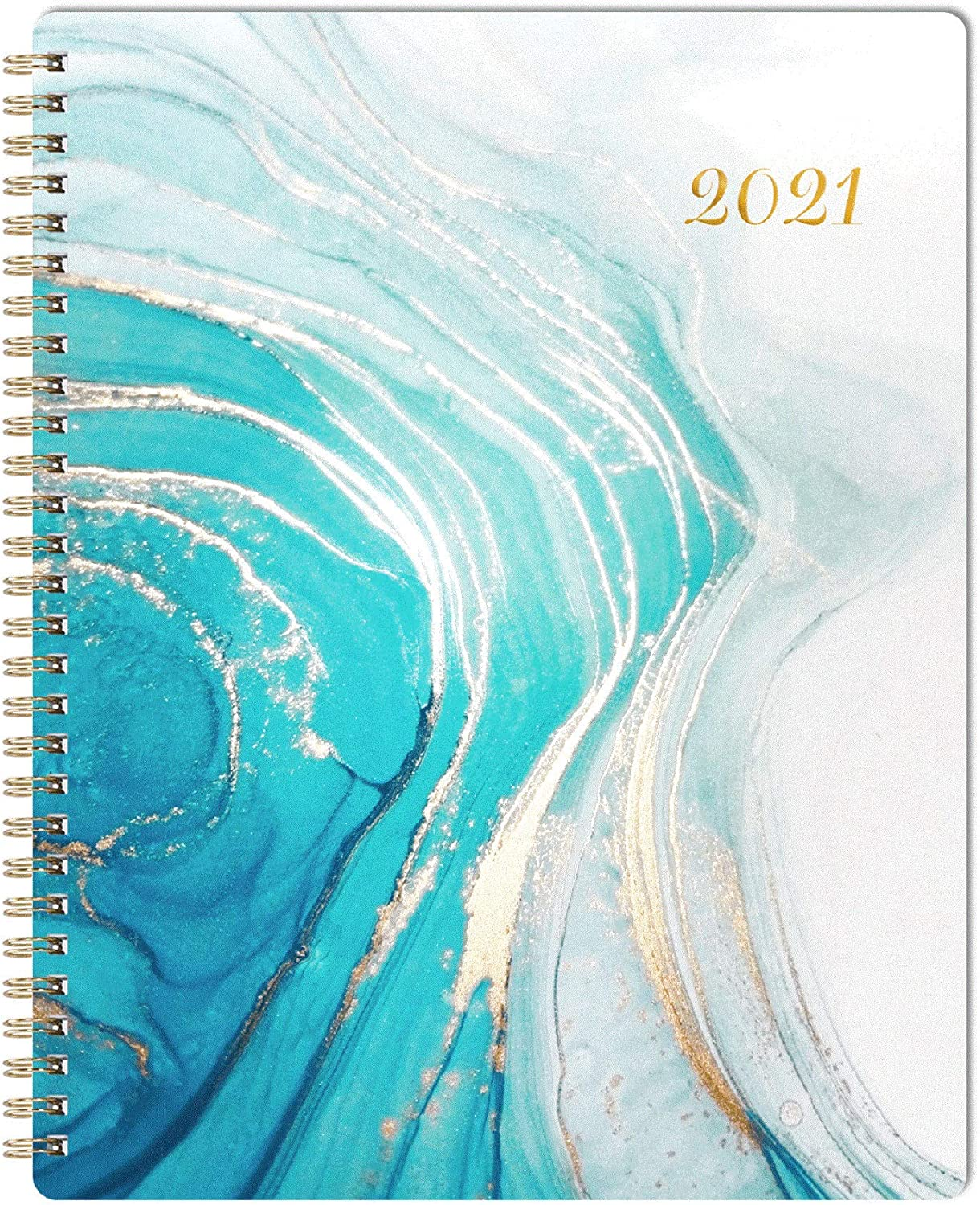 """Planner 2021 - Weekly Monthly Planner with Flexible Cover, 8"""" x 10"""", Jan 2021 - Dec 2021, Check Boxes as to-do List, Monthly Printed Tabs, Perfect for Home, Office Using"""