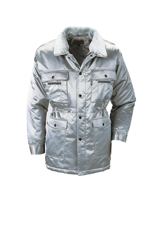 (ジーベック) XEBEC 光沢感のある素材 防寒着 防寒コート (216-xe) 【M~5Lサイズ展開】 B0179LFEI0 3L|シルバーグレー シルバーグレー 3L