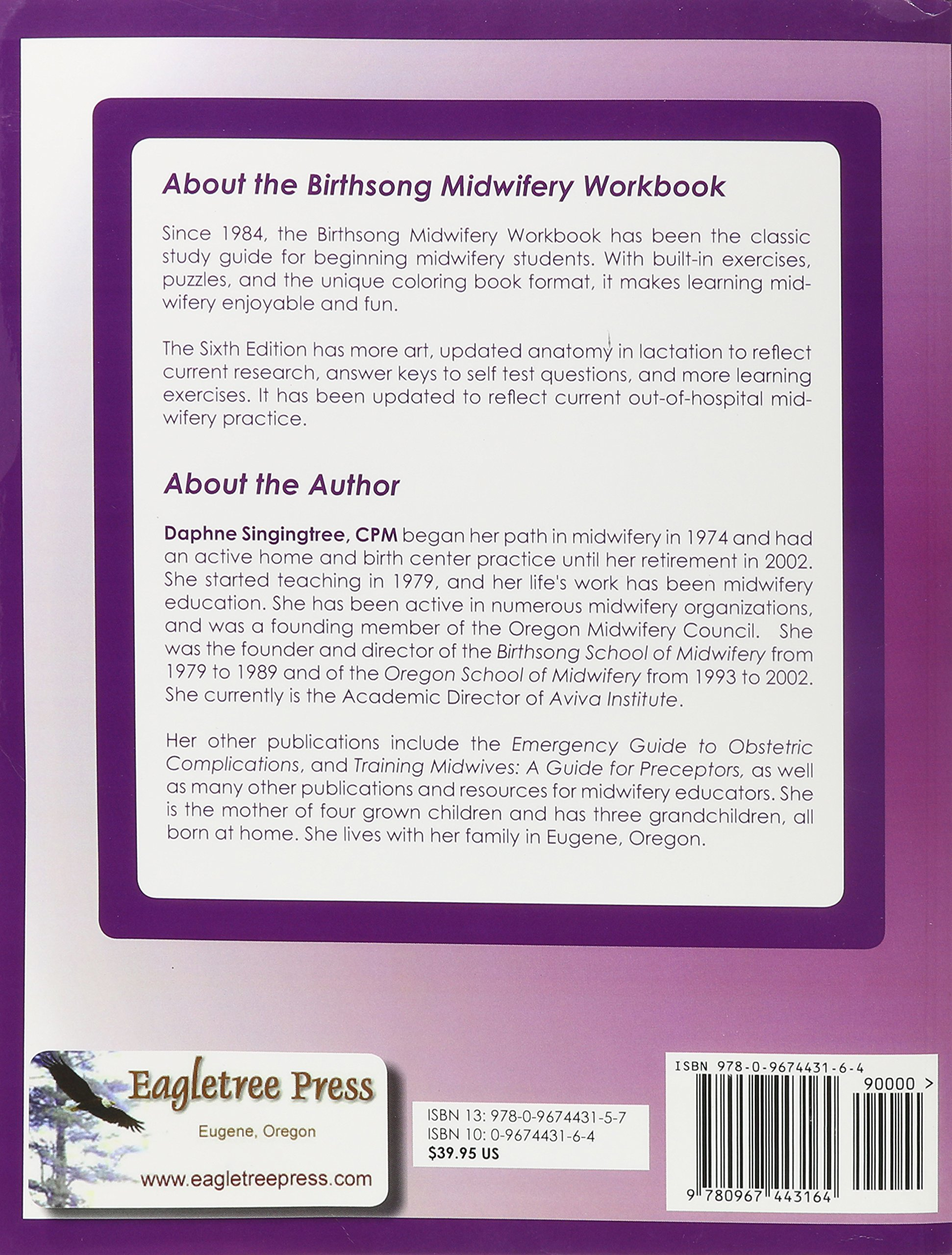 Birthsong midwifery workbook 6th edition daphne singingtree ellen birthsong midwifery workbook 6th edition daphne singingtree ellen klowden patricia edmonds bonnie gruenburg ruth simer jennifer buccilli fandeluxe Images