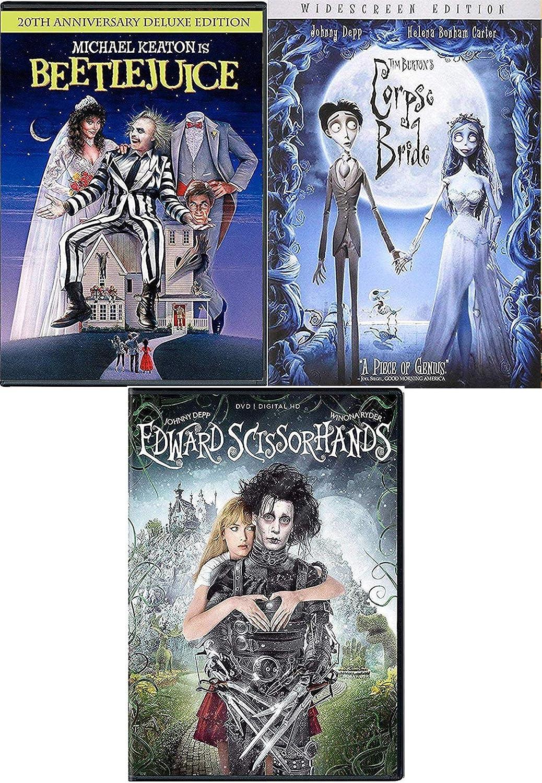 Scientist ghosts Bride Beetlejuice DVD Movie Tim Burton with TV Animated episodes + Edward Scissorhands & Corpse Bride 3 Pack: Amazon.es: Cine y Series TV