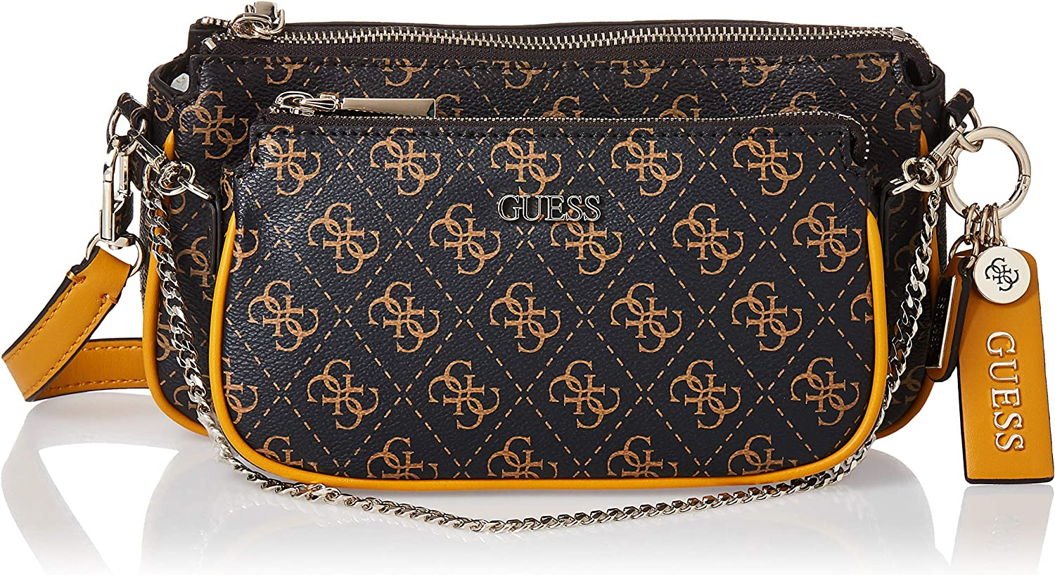 Bolso bandolera Guess Ratet Hwsg7885700 color marr/ón