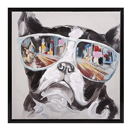 Amazon.com: Imax 82202 City Shades Dog Framed Canvas: Posters & Prints