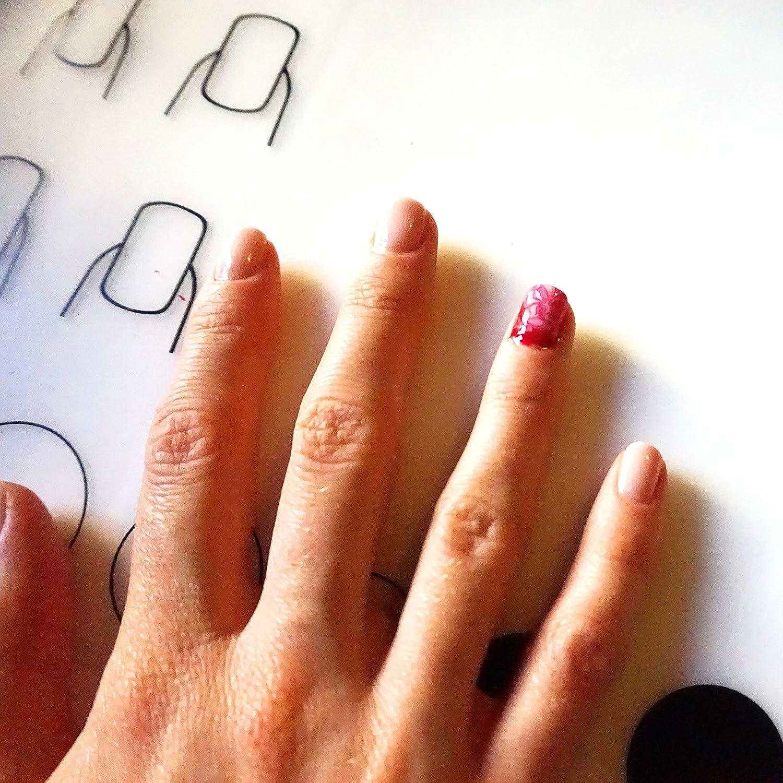 CPMA • DIY Nail Art Silikon-Matte inkl. Glas-Nagelfeile und Dotting ...