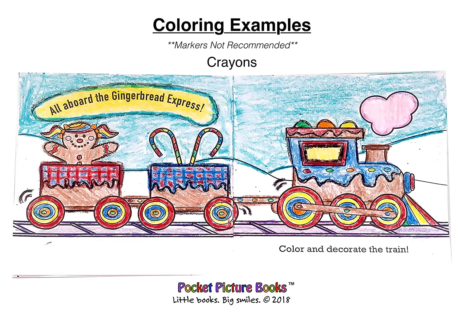 Pocket Picture Books 50 ct. Holiday Mini Coloring Books in Bulk: Includes 10 Winter-Themed Coloring Activities Mini Christmas Coloring Books