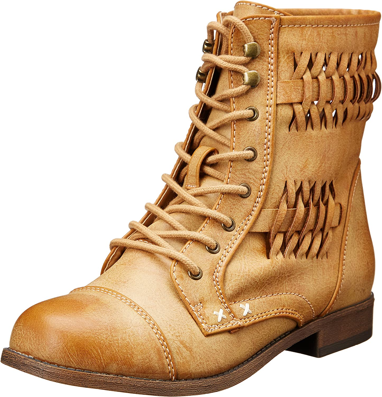 7 M US Black Topline Womens SOTHIS Combat Boot