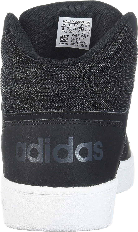 Adidas Herren Hoops 2.0 Mid Turnschuh Schwarz Schwarz Carbon