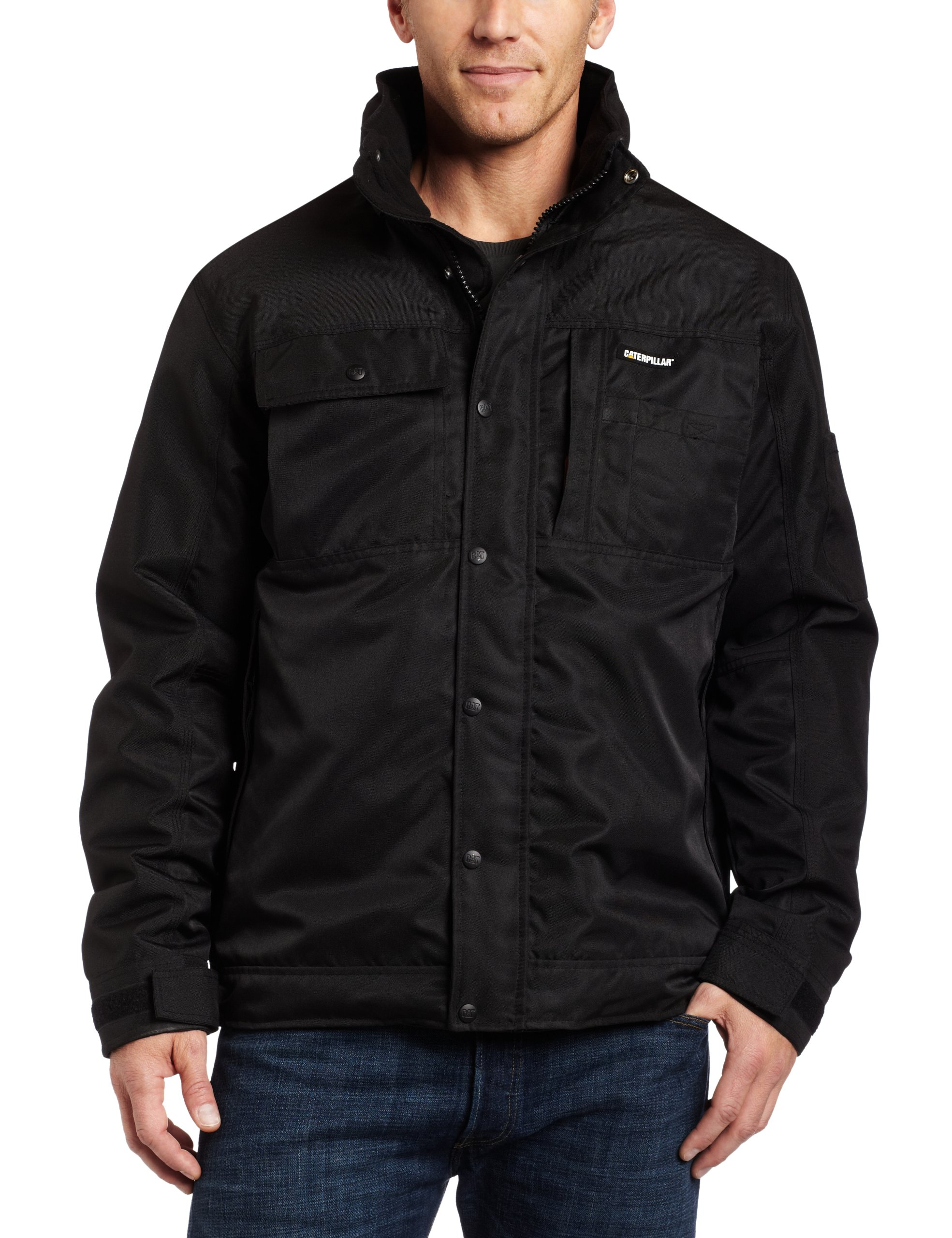 Caterpillar Insulated Twill Jacket, Black, Medium by Caterpillar