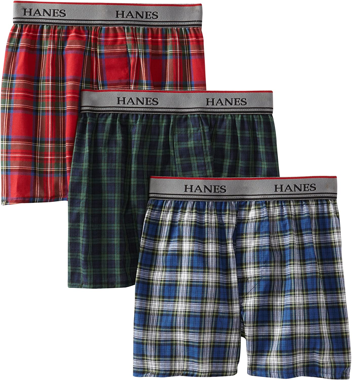 Hanes Boys Yarn Dye Boxer Comfort Flex Waistband 3-Pack
