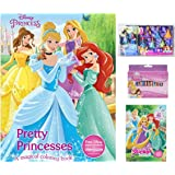 Disney Princess Coloring Book Bundle With Sticker Scenes Crayons 32ct And 1