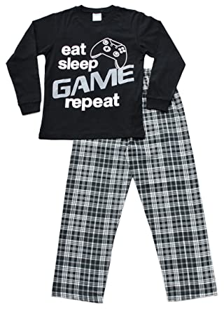 Boys Eat Sleep Game Pyjamas 9 to 13 Years Gamer PJs Black (11-12 Years)   Amazon.co.uk  Clothing 33c95d7ea