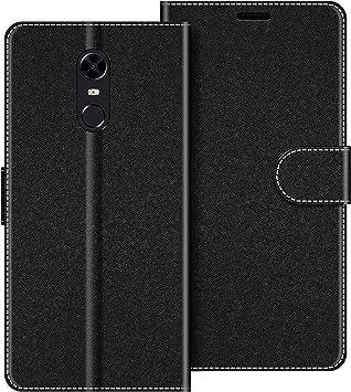 COODIO Funda Xiaomi Redmi 5 Plus con Tapa, Funda Movil Xiaomi Redmi 5 Plus, Funda Libro Xiaomi Redmi 5 Plus Carcasa Magnético Funda para Xiaomi Redmi 5 Plus, Negro: Amazon.es: Electrónica