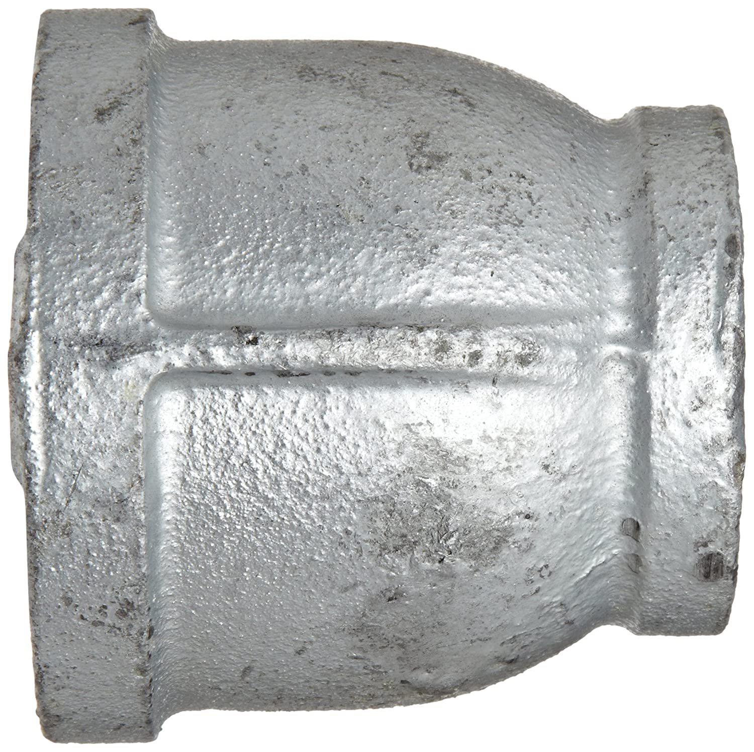 Reducer Coupling Malleable Iron Pipe Fitting 1 x 3//4 NPT Female Galvanized Finish Anvil 8700135406