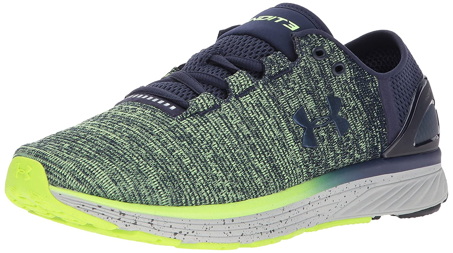 Under Armour Women's Charged Bandit 3 Running Shoe B01NCANU02 11 M US|Quirky Lime (752)/Midnight Navy