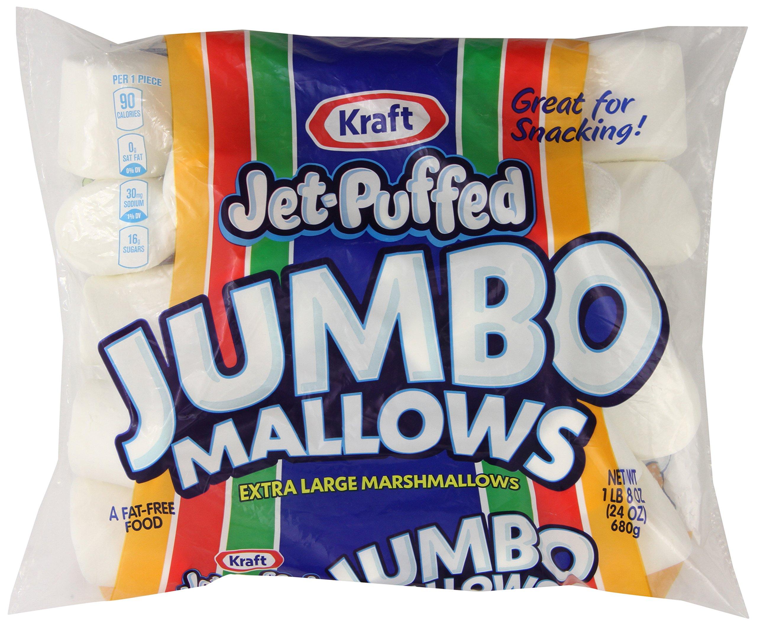 Jet Puffed Jumbo Marshmallows, 24 oz