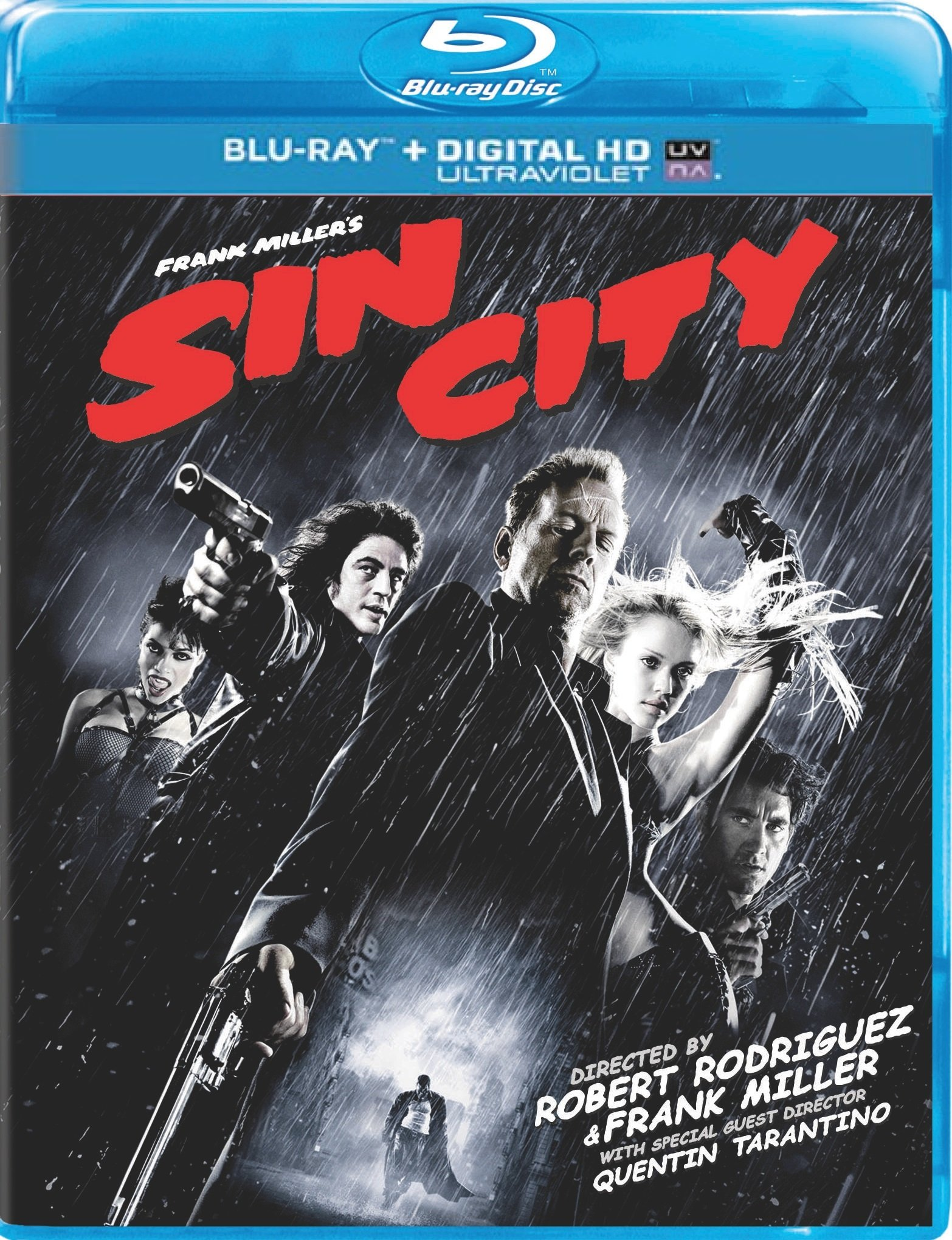 Blu-ray : Sin City Sin City Uncut (Ultraviolet Digital Copy, Digital Copy, Widescreen, Dolby, AC-3)