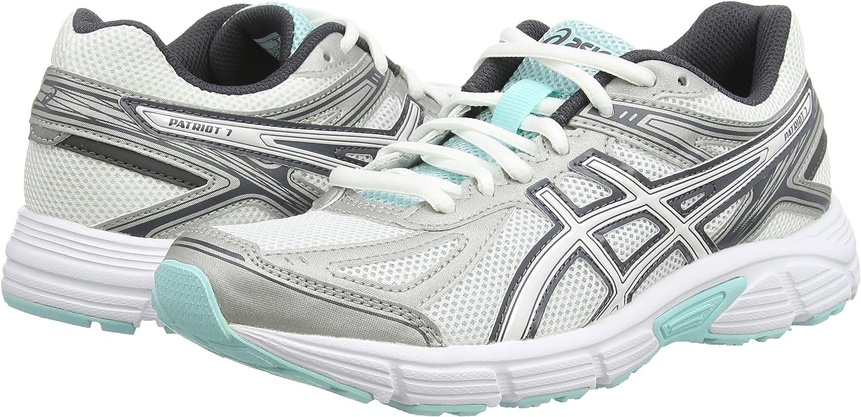 ASICS Patriot 7 - Zapatillas de Running para Mujer, Color Blanco (White/Vanilla Ice/Aqua Splash 0102), Talla 37.5: Amazon.es: Zapatos y complementos