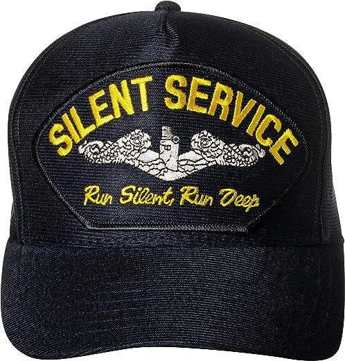 United States Silent Service Run Silent Run Deep Emblem Patch Hat Navy Blue Baseball Cap