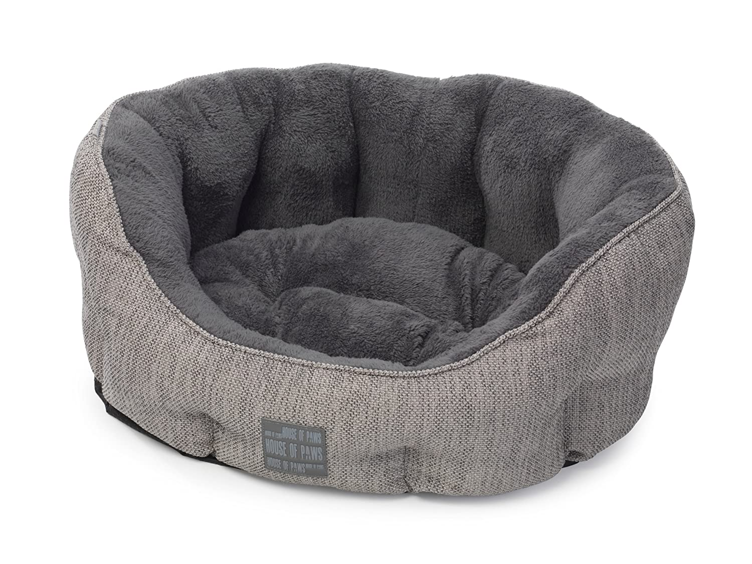 House of Paws Grey Hessian Bed, Medium