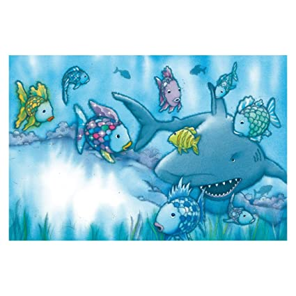 Self Adhesive Wallpaper The Rainbow Fish Shark Attack
